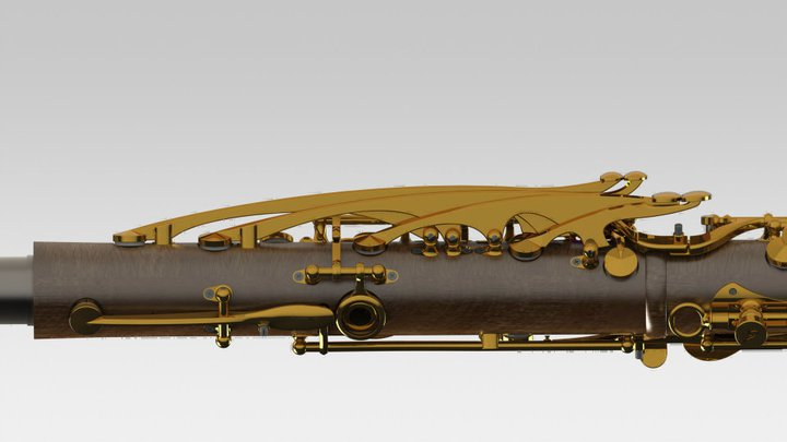 Cocobolo MoBa clarinet with gold plated keys.